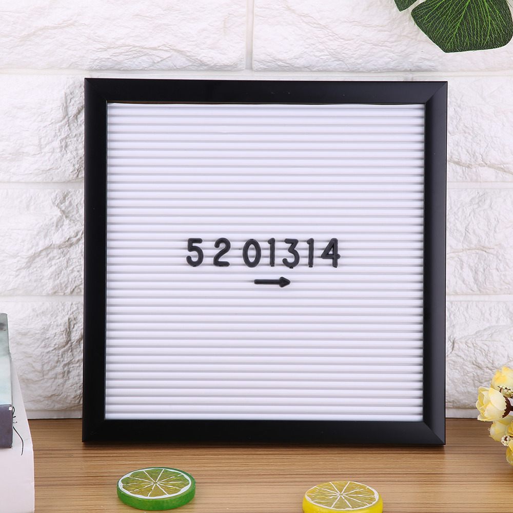 New Home Room Office Decor Message Felt Letter Board Sign Changeable Letters Numbers 25cm*25cm