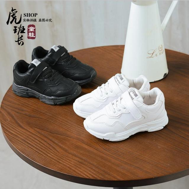 043d8a6c04a 2018 zapatos para niños botas de cuero zapatos de suela blanda para bebés  zapatos deportivos para