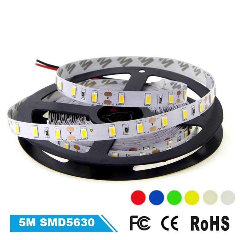 SMD5630 Led Strip Light 300LEDs 16.4ft Flexible Led Light Tape Brightness than SMD5050 LED Ribbon Light for Home Decor