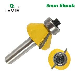 Image 5 - LA VIE 1 pc 8 millimetri Shank 45 Gradi Smusso Bordo Formando Router Bit Smusso Flush Trim Bit di Lavorazione Del Legno Fresatura cutter Bit MC02021