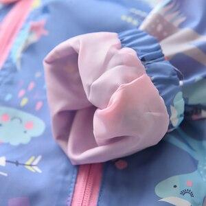 Image 5 - Neue Frühling Mädchen Jacken Und Mäntel Mit Kapuze Einhorn Regenbogen Muster Kinder Windjacke Jacken Herbst Jacken Für Mädchen Kinder Mantel