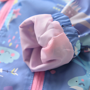 Image 5 - חדש אביב בנות מעילי מעילי סלעית Unicorn קשת דפוס ילדים מעיל רוח מעילי סתיו ילדה ילדי מעיל