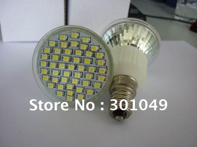 white color led spot lamp+e14 3528 48light+CE+energy  saving light