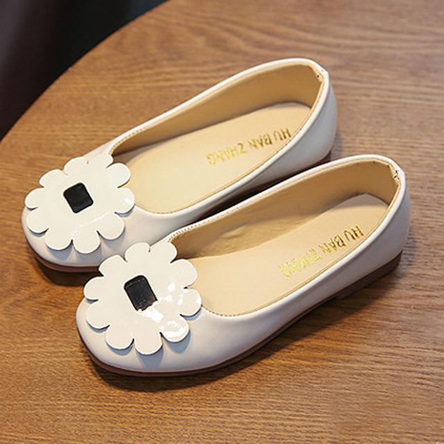 Crianças meninas primavera crianças flor shoes slip-on flats infantis bailarinas shoes 2017 novo estilo do bebê da princesa shoes