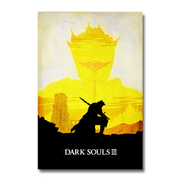 Плакат гобелен dark Soul 3 шелк