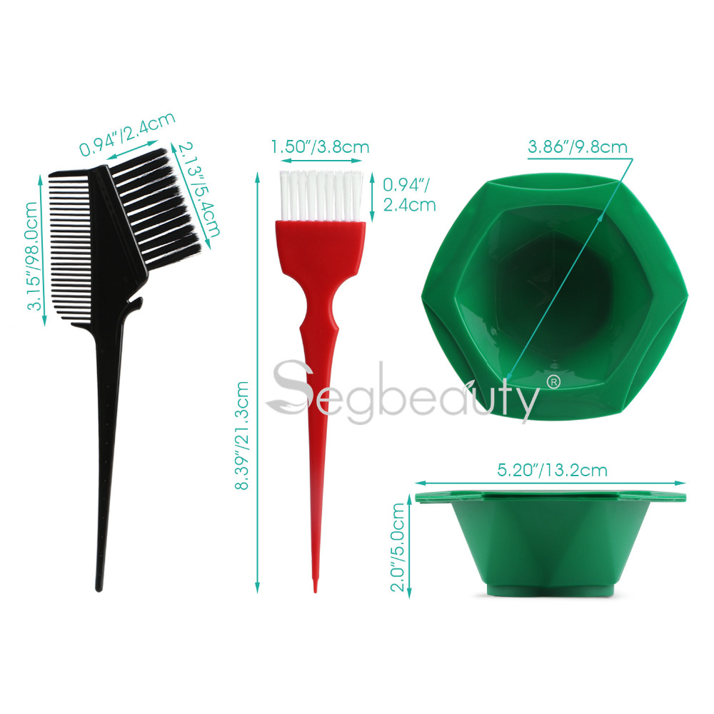 Hair Coloring Highlights Combs Hairstyle Diyprofessional Tint Kit