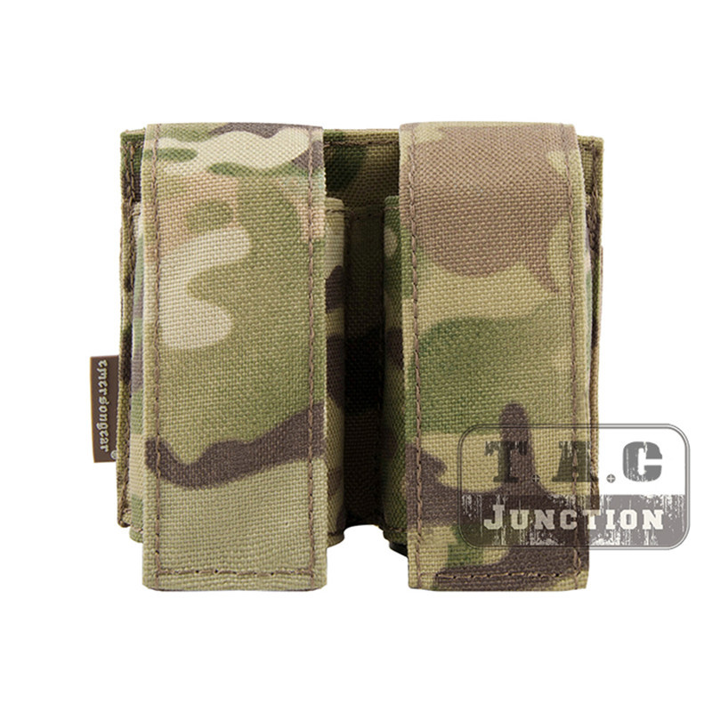 Emerson Tactical MOLLE Double 40mm Grenade Pouch Emersongear 9mm Magazine Holder Carrier Ammo Bag PALS