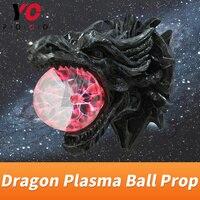YOPOOD Dragon Plasma Ball Prop escape room magic game supplier touching ball for certain time to unlock metal sensor to start