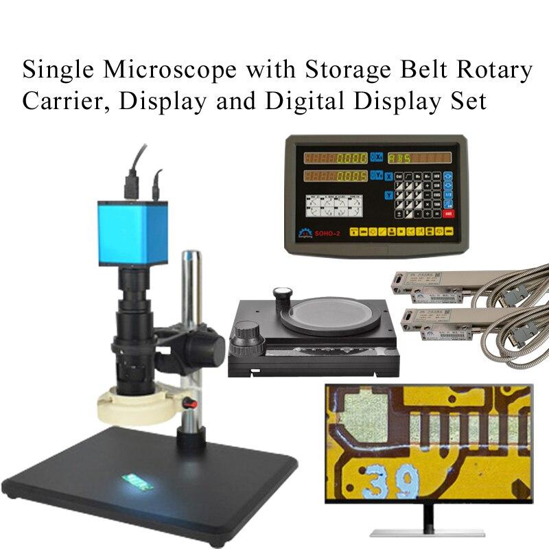 Автоматический Фокусировочный микроскоп Высокое Разрешение HDMI высокоскоростное электронное видео измерение для 14 миллионов промышленных электронных - Цвет: Цвет: желтый
