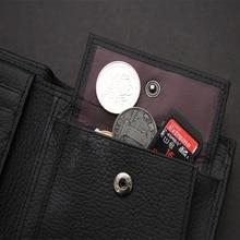 Genuine Leather Wallet – Black / Coffee