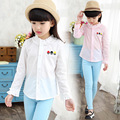 2016 new spring autumn Girls Kids Boys Cotton cartoon casual shirt comfortable cute baby Clothes Children Clothing