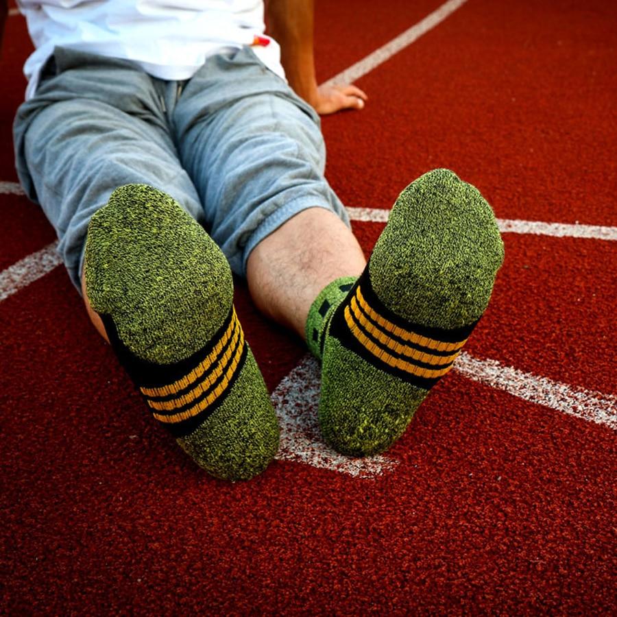 1 lot = 5 pari Pamučne čarape za kompresije za muškarce trekking - Donje rublje - Foto 6