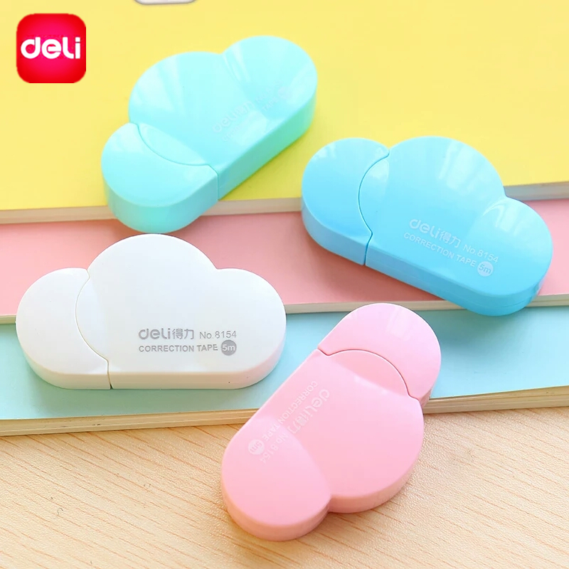 Deli Cloud Shaped Correction Tape Kawaii Stationery Candy Color Cartoon Corretivo Escolar 5mmx5m School Chancery Office Supplies 5mm x 5m deli sweet kawaii cloud shape mini correction tape korean stationery novelty office school supplies kids study tool