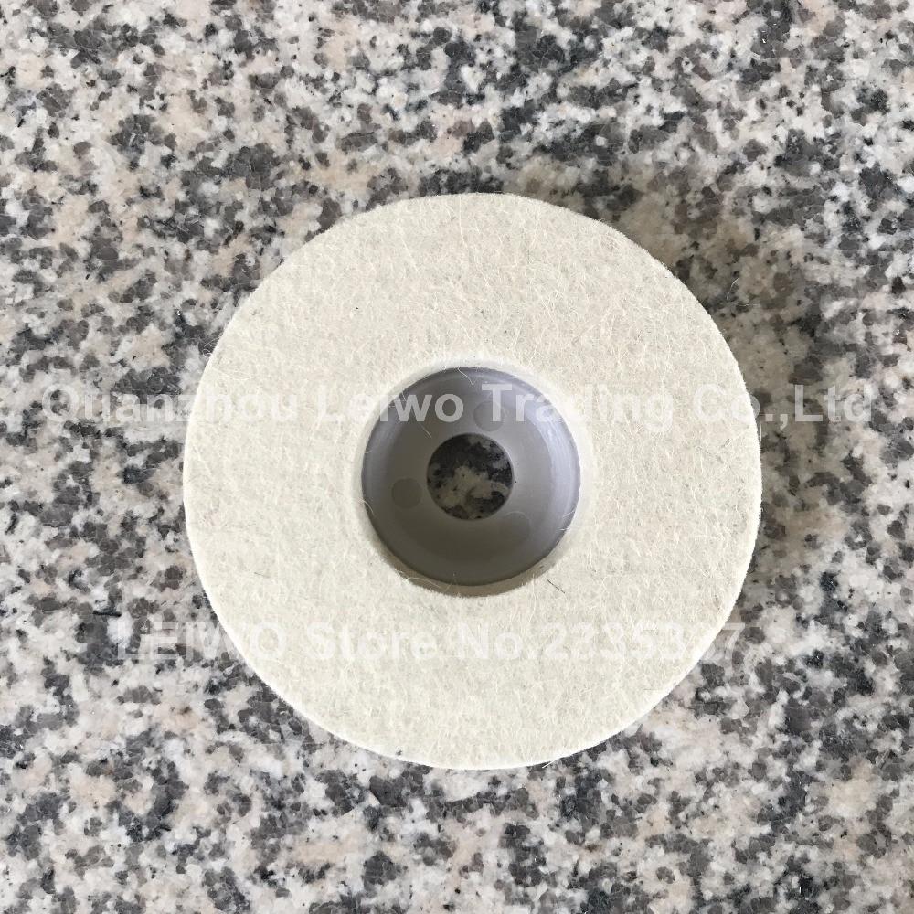 Wool Felt Polishing Wheel 4 inch (100 mm) Marble Abrasive for Angle Grinder Work with Polishing Wax or Grinding Polishing Paste