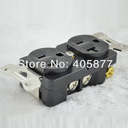 HI END AC plug power rodowane adapter Duplex gniazdo Wtyczki i złącza Elektronika użytkowa -