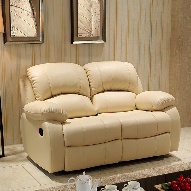 Imported Cow Leather Electric Function Recliner Sofa Set From Foshan  Furniture