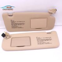 CHUANGMU For HYUNDAI sonata NF NFC Sun visor Sunshade assembly Beige 85201 0R300V2 85202 0R300V2