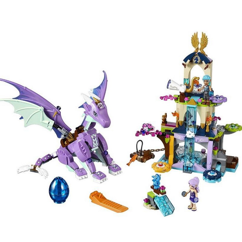 10549 BELA Elves Series The Dragon Sanctuary Model Building Blocks Classic Enlighten Figure Toys For Children Compatible Legoe 10548 elves the precious crystal mine building block set naida farran figures baby dragon toys for children compatible 41177