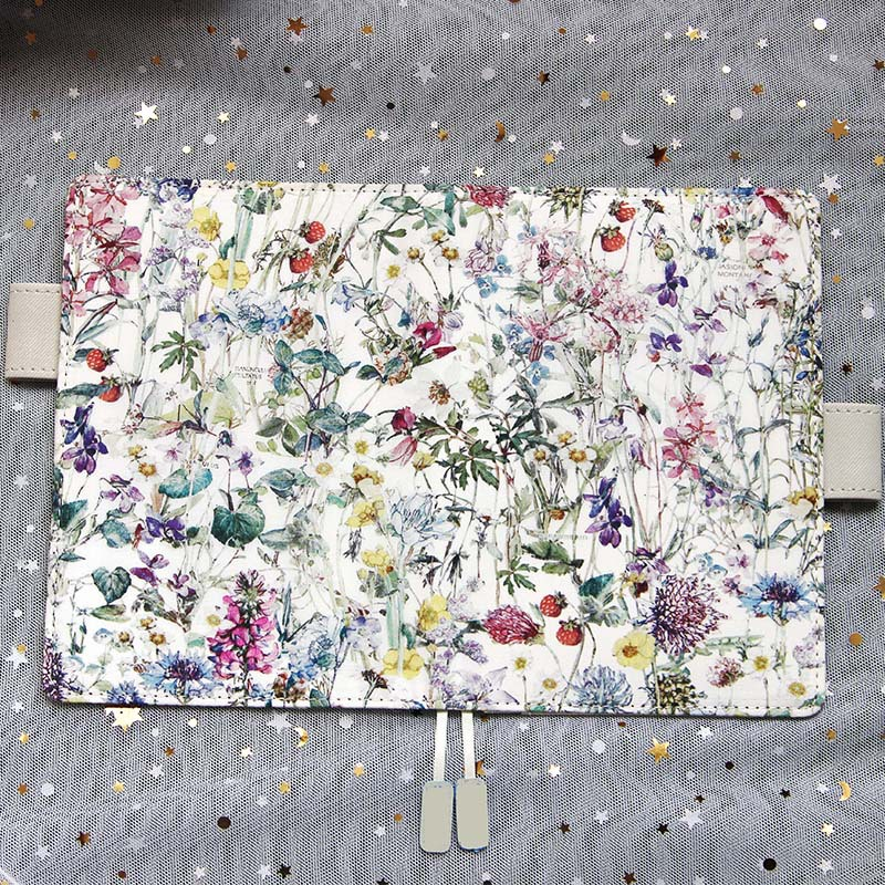 Summer Flower High Quality Cloth Journal A5 A6 Fitted Planner 128 Sheets All Dotted Paper Suit For Hobonichi School Office Gift цена и фото