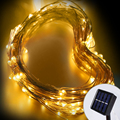 NEW Solar LED String Lights Waterproof Fairy Light 10M Outdoor Copper Wire Holiday Light  For Party Christmas Wedding Decoration
