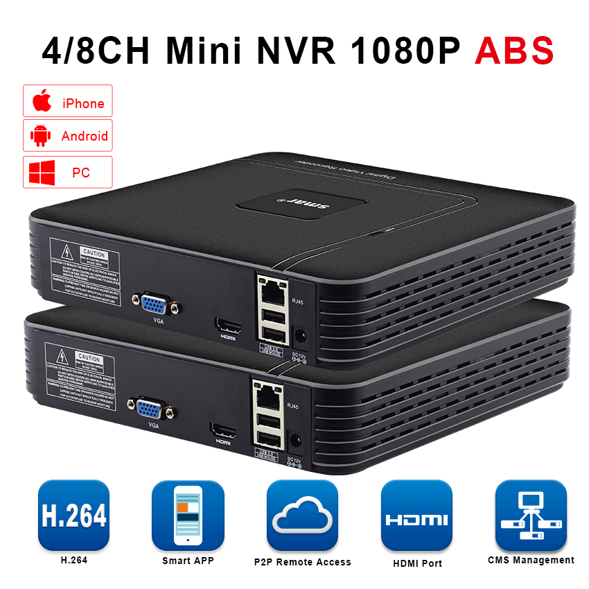 H 264 Mini CCTV NVR 4CH 8CH Video DVR Recorder Onvif 16CH H 265 Network DVR  For 1080P 5MP IP Camera Security Surveillance System