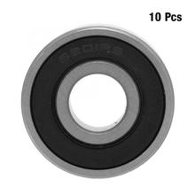 10pcs 12x32x10mm bearing mount Double-side Rubber Sealed Deep Groove Steel Ball Bearings ball bearing ute double sealed angular contact bearings h7205c 2rz p4 speed spindle bearings cnc ceramic ball 7205 25mmx52mmx15mm abec 7