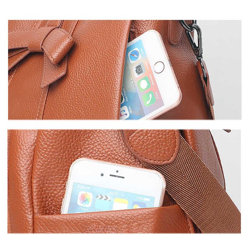 ZMQN рюкзаки для Для женщин 2019 из искусственной кожи рюкзак модные женские школьные сумки для девочек подростков Mochila Mujer коричневый A124