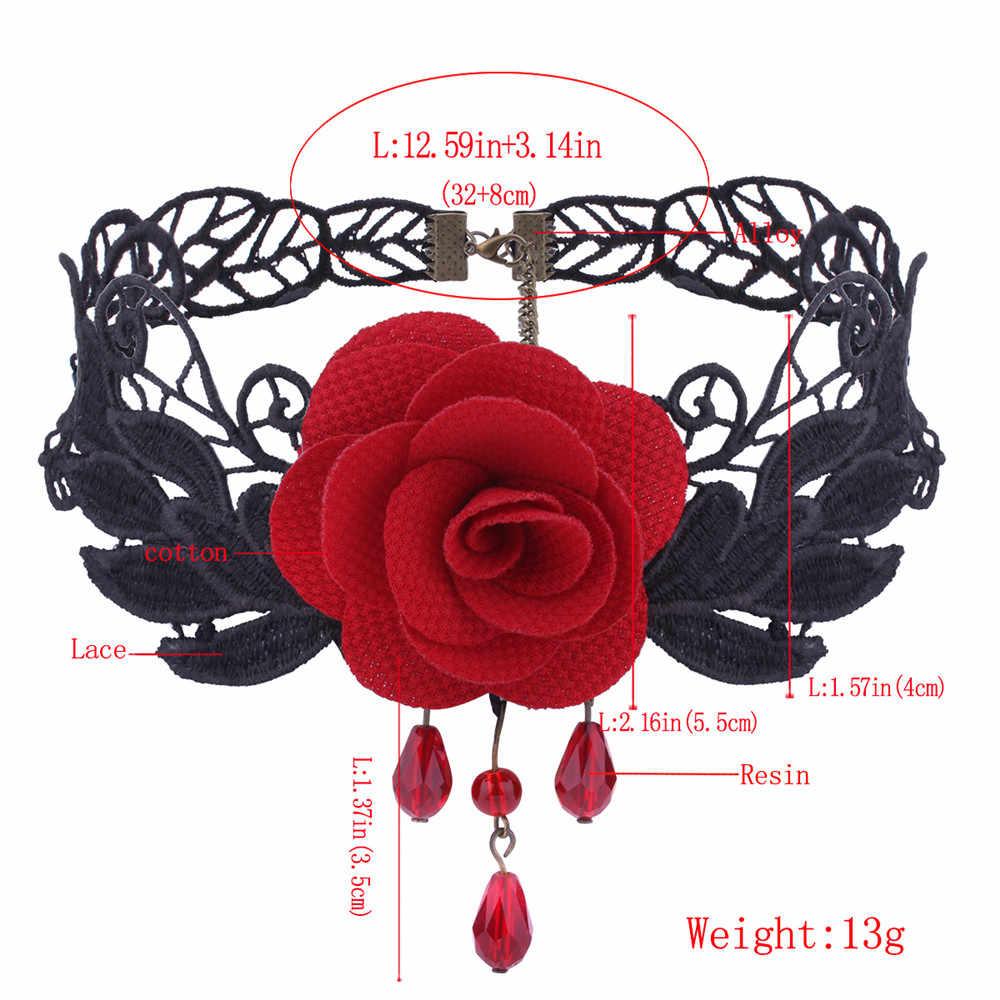 temperament New Sales Fashion Flower Necklace Women Jewelry Pendant neckless rosary sieraden collares de moda 2019 @3