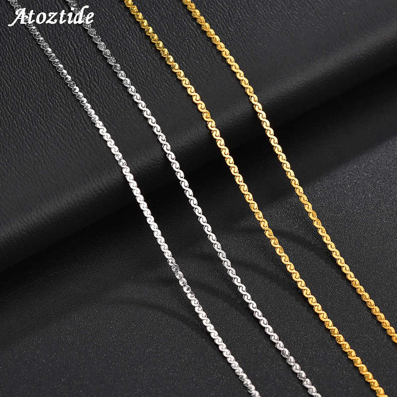 Atoztide lots 4mm/5mm Gold Twist chain Rope Stainless Steel Necklace for DIY Jewelry Making Findings Accessories