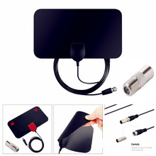 Indoor TV Antenna Digital 1080P HDTV Antenna 100 Mile 4K VHF-H/UHF DVB-T DVB-T2 surf radio Ultra-thin TV Aerial Radius цена