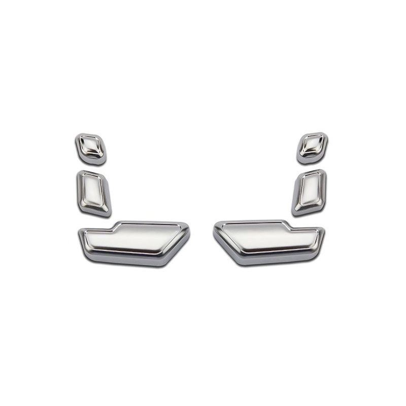 Chrome Door Seat Adjust Button Switch Cover Trim Set for