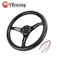VR RACING - NEW 14 inch 350mm Carbon Fiber MOMO Style steering wheel automobile race modified VR-SWL07CF