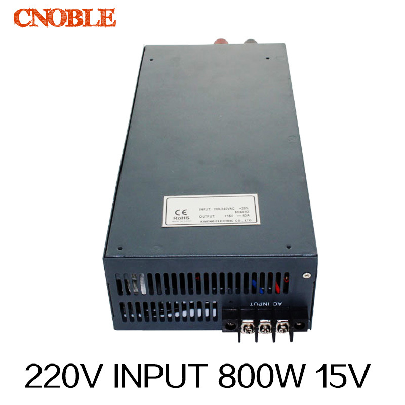 800W 0~15V adjustable 54A 220V INPUT Single Output Switching power supply for LED Strip light AC to DC 1200w 15v adjustable 220v input single output switching power supply for led strip light ac to dc