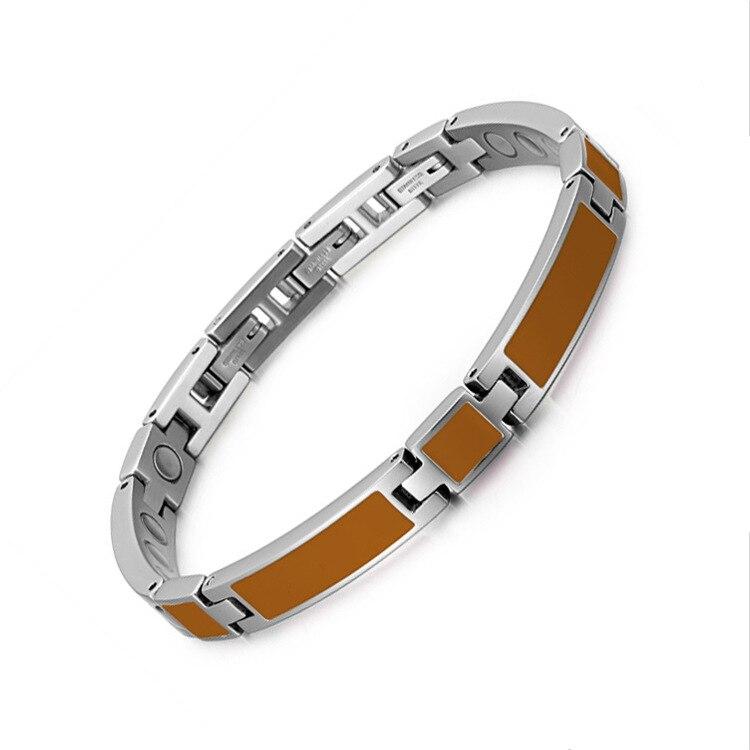 Fashion Trends, Orange Drip Magnet Bracelet Stainless Steel Womens