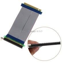 PCI E 16X to 16X yükseltici genişletici kartı adaptörü PCIe 16X PCI ekspres esnek kablo toptan ve Dropship