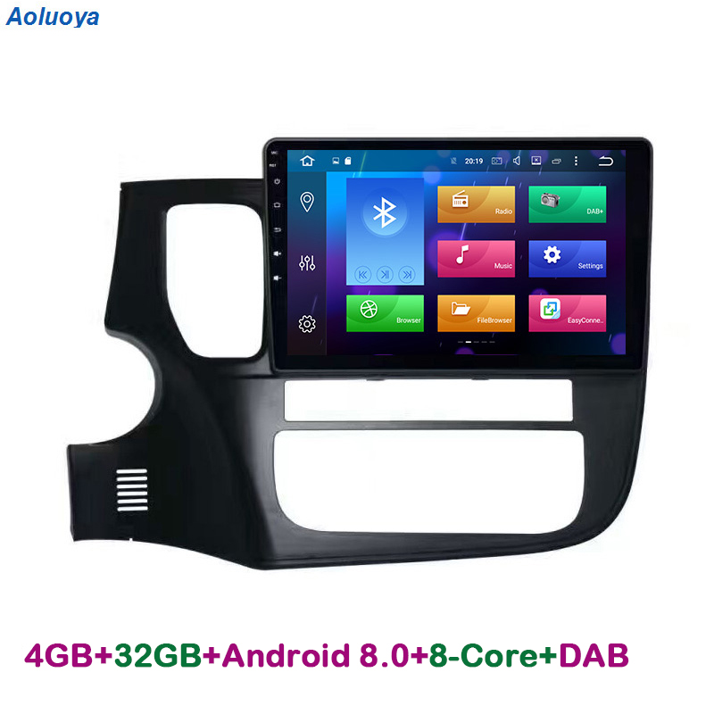 Aoluoya RAM 4G Octa Core Android 8.0 CAR DVD PLAYER GPS Navigation For Mitsubishi Outlander 2013 2014 2015 2016 Audio multimedia
