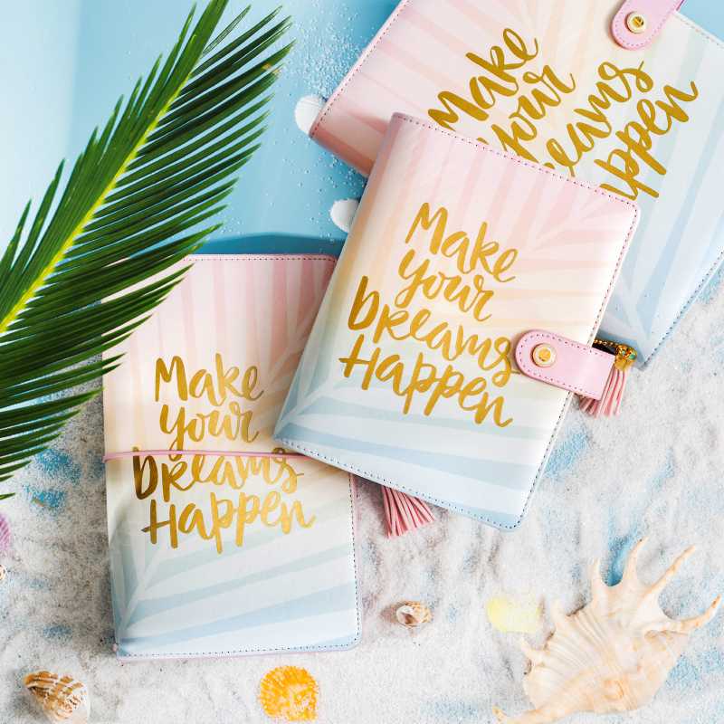 Lovedoki Mid Summer Leaves Spiral Notebook Schedule diary Organizer A5 Planner 2018 Creative Presents Office & School Supplies a force presents volume 2