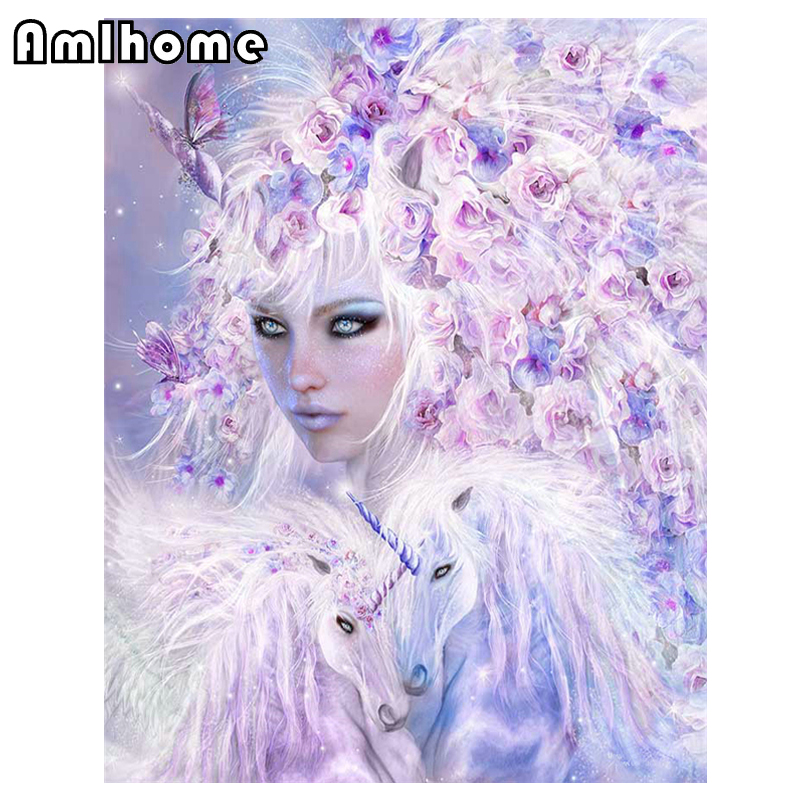 New 5d Diy Diamond Painting Beautiful Fairy Crystal
