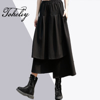 Toheliy 2018 Women Fashion Trend Spring Personal Cascading High Waist Irregular A Word Skirt