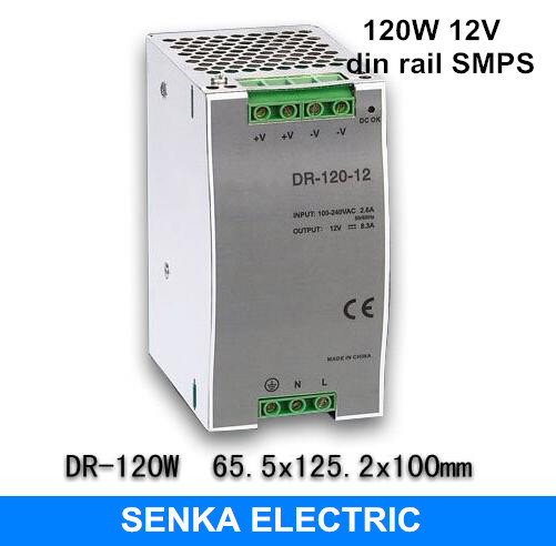120W 12V 10A switching power supply din rail switching power supply smps MDR-120-12 low price direct sale din rail smps mdr 60 12 mdr series 12v 5a 60w ce switching power supply for led strip light lamp