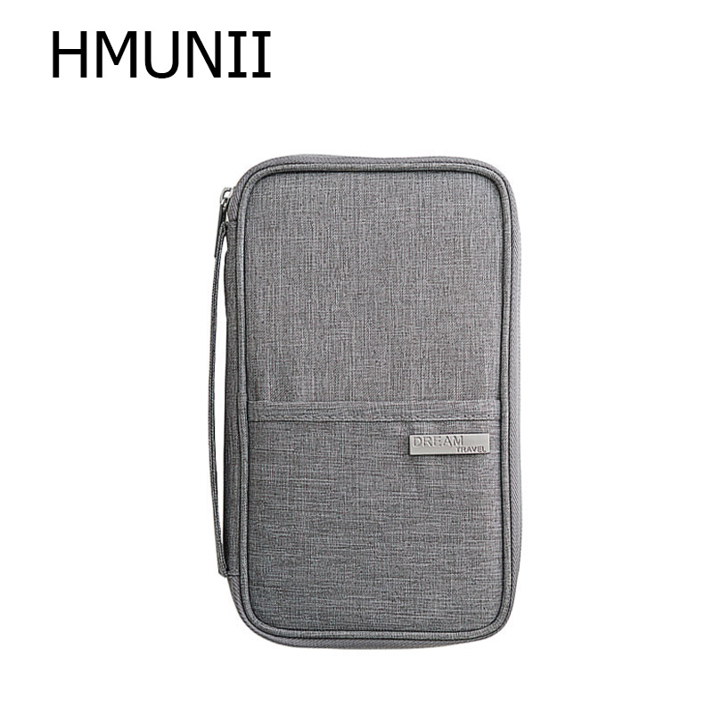 HMUNII New Cationic Fabric Travel Organizer Passport Holder Card Package Credit Card Holder ,Multi-functional Travel Accessories lxhysj fashion print passport bag lady travel passport file credit card identity card holder organizer multi functional bag