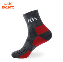 SANTO Quick Drying Men Socks Outdoor Sports Socks For Hiking Cycling Camping Coolmax Thick Thermosocks