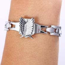 Attack on Titan Silver Alloy Bracelets Cosplay Accessories Metal Bangle