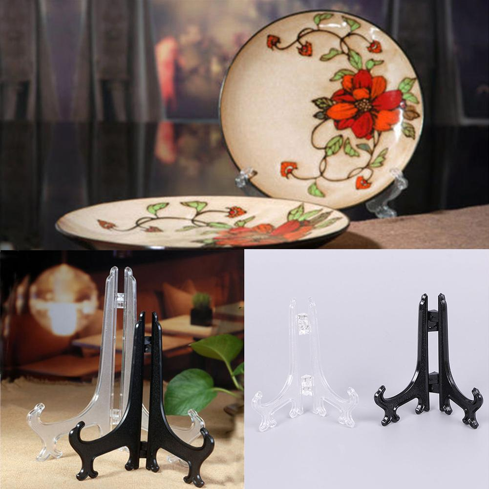 10pcs Decorative Plate Stand Holder Picture Frame Stand Easel Display 9inch