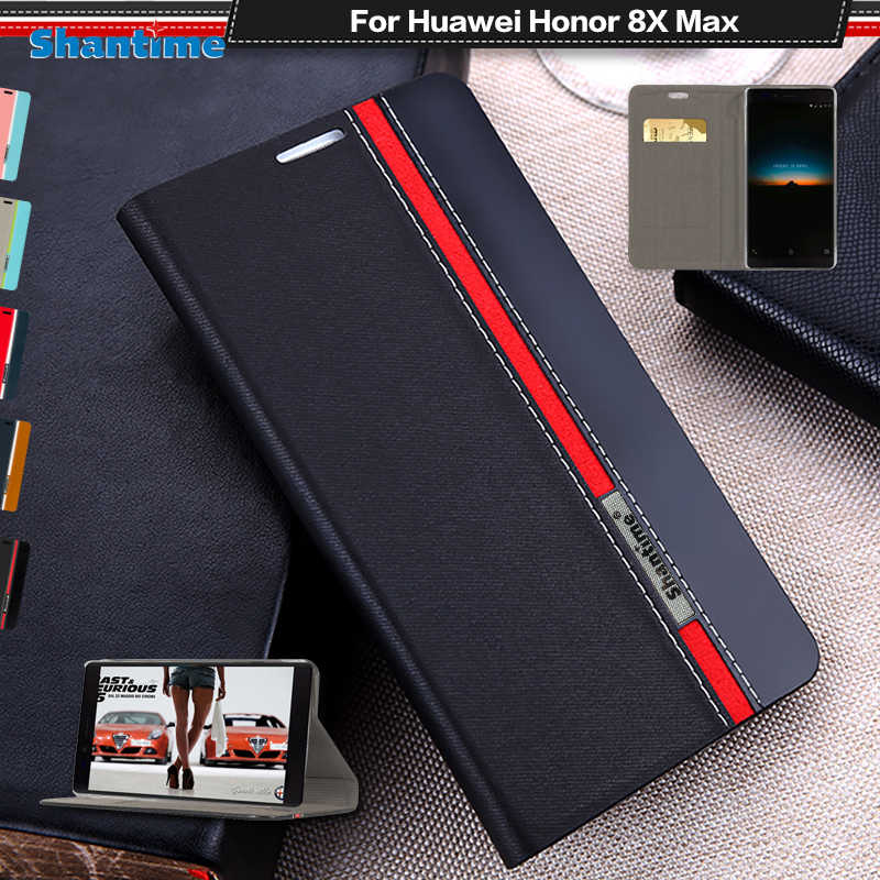 PU Leather Book Case For Huawei Honor 8X Max Flip Case For Huawei Honor Note 10 Business Wallet Case Soft Silicone Back Cover