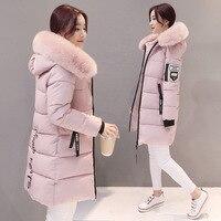 Парка Для женщин зимние пальто длинные хлопковые Повседневное Куртки с меховым капюшоном Для женщин теплые зимние парки женские пальто ...