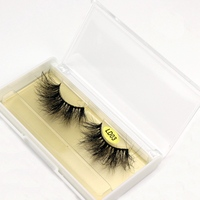 25mm lashes 3d mink lashes handmade full strip lashes crisscross dramatic mink eyelashes full volume  false eyelash DOCOCER