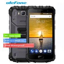 Ulefone Панцири 2 5.0 «FHD 6 ГБ + 64 ГБ IP68 4 г смартфон Android 7.0 8-ядерный helio p25 Водонепроницаемый 16MP + 13MP пыле телефоны NFC