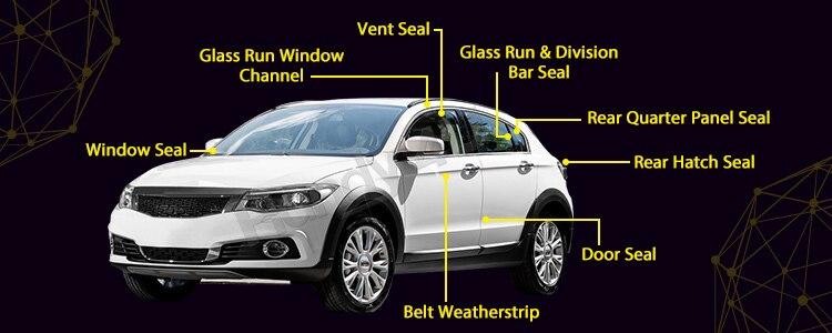 Car window seal locking strip