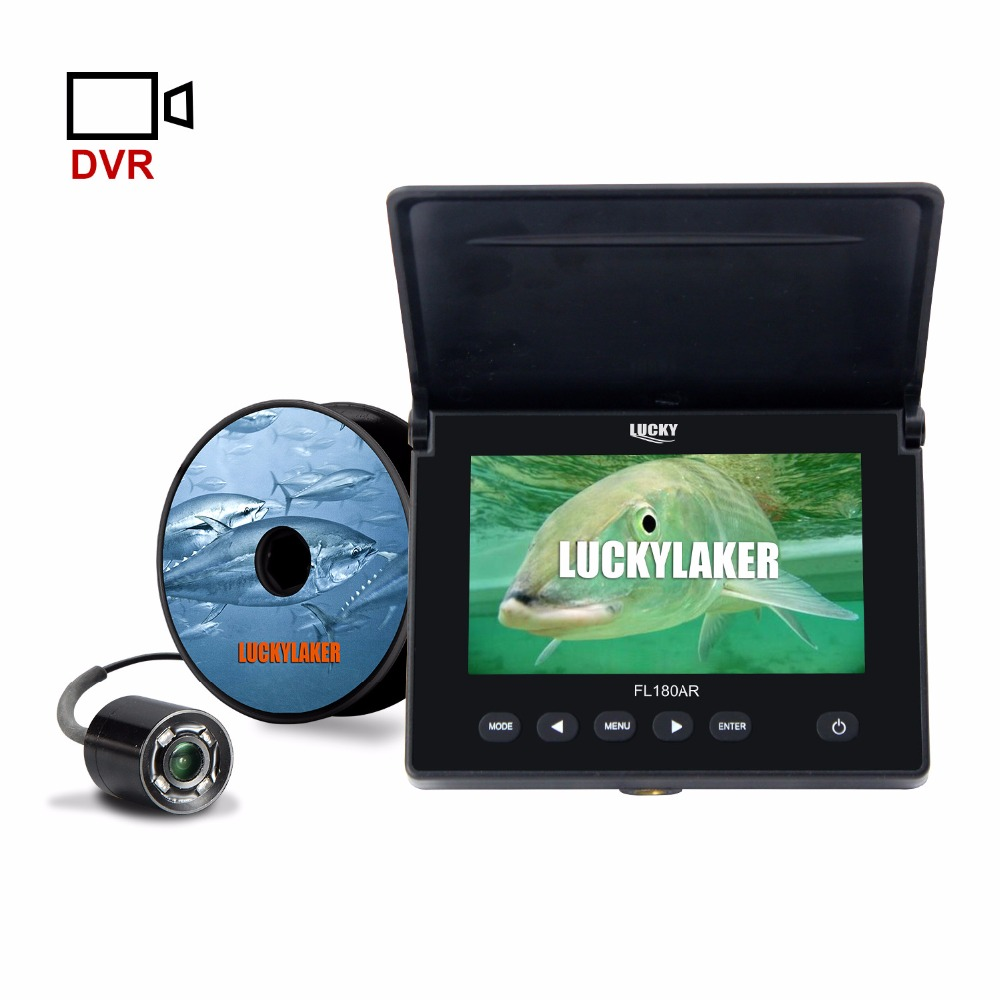 "LUCKY Original 4.3"" 20M Underwater Ice Fishing Video Camera Fishfinder 4PCS LED Night Vision Camera For Fishing-in Fish Finders from Sports & Entertainment"